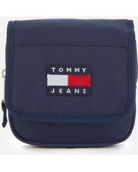 Tommy Hilfiger Heritage Flap Nylon Cross Body Bag - Blue