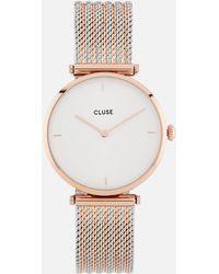 Cluse Mixed Mesh Watch - Metallic