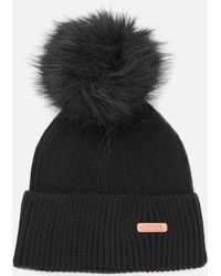 Barbour - Mallory Pom Beanie Hat - Lyst