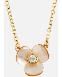 Kate Spade Precious Pansy Mini Pendant - Metallic