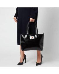 Love Moschino Heart Logo Tote Bag - Black