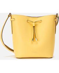 Lauren by Ralph Lauren - Super Smooth Leather Debby Drawstring Bag - Lyst