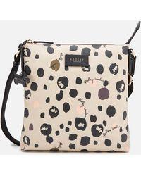 Radley Bubble Dog Small Zip Top Cross Body Bag - Grey