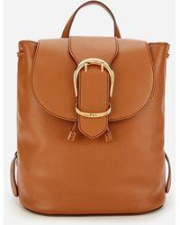 Lauren by Ralph Lauren Soft Pebble Leather Backpack - Brown
