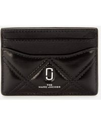 Marc Jacobs The Quilted Softshot Card Case - Natural