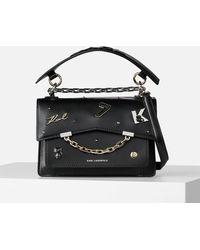 Karl Lagerfeld K/karl Seven Pins Shoulder Bag - Black