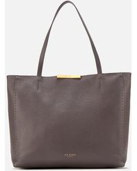 Ted Baker Clarkia Soft Grain Faceted Bar Shopper Bag - Multicolor