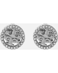 Tory Burch Miller Pave Stud Earring - Multicolour