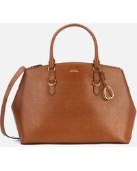 Lauren by Ralph Lauren - Bennington Double Zip Medium Satchel Bag - Lyst