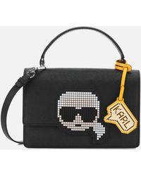 Karl Lagerfeld K/pixel Top Handle - Black