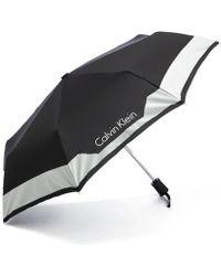 Calvin Klein Medium Foldable Umbrella - Multicolour