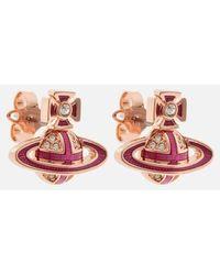 Vivienne Westwood Suffolk Bas Relief Earrings - Pink