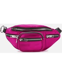 Alexander Wang Attica Satin Belt Bag - Purple