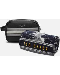 Ted Baker Endset Washbag And Towel Gift Set - Black