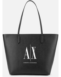 Armani Exchange Icon Tote Bag - Black