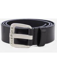 DIESEL B-star Leather Belt - Black