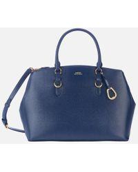 Lauren by Ralph Lauren Bennington Double Zip Medium Satchel Bag - Blue