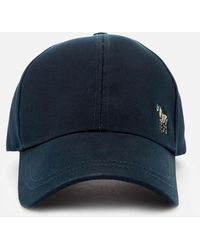 492cc54f696f7a Paul Smith - Navy Cotton Zebra Logo Baseball Cap - Lyst