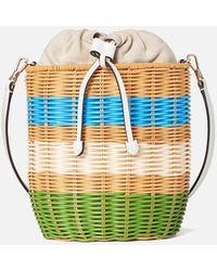 Kate Spade Buoy Wicker Medium Bucket Bag - Multicolor