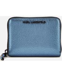 Karl Lagerfeld - Women's K/kool Small Zip Wallet - Lyst