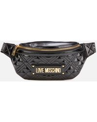 Love Moschino Quilted Hip Bag - Black