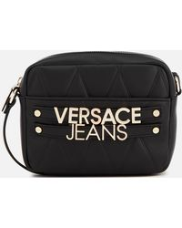 1b61a67b58 Versace Jeans - Quilted Logo Small Cross Body Bag - Lyst