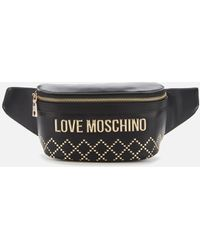 Love Moschino Quilt Stud Detail Waist Bag - Multicolor