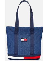 Tommy Hilfiger Tjw Heritage Denim Tote Bag - Blue