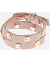 Tory Burch - Double Wrap Logo Stud Bracelet - Lyst