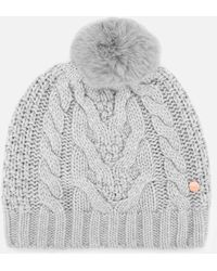 Ted Baker Quirsa Cable Knit Pom Hat - Gray
