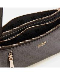 Guess Naya Mini Double Zip Cross Body Bag - Black