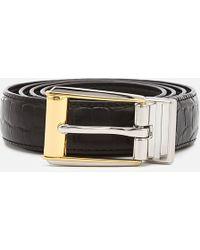 Lauren by Ralph Lauren - 3/4 Reversible Skinny Belt - Lyst
