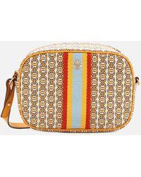 Tory Burch Gemini Link Canvas Mini Bag - Yellow
