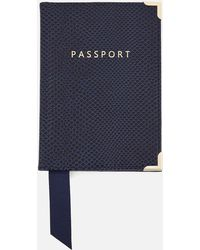 Aspinal of London Passport Cover - Blue