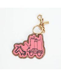 COACH Li Ruosi Signature Bag Charm - Pink