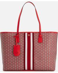 Tory Burch Gemini Link Large Tote Bag - Red