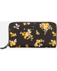 COACH - Accordion Zip Wallet In Prairie Print Coated Canvas - Lyst
