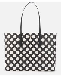 Kate Spade Molly Bikini Dot Large Tote - Black