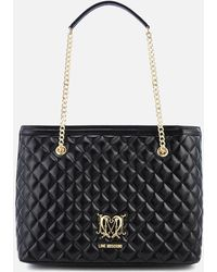 Love Moschino - Quilted Faux Leather Shopper - Lyst