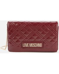 Love Moschino Quilted Chain Shoulder Bag - Red