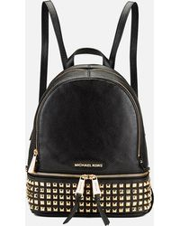 MICHAEL Michael Kors | Rhea Zip Studded Leather Backpack | Lyst
