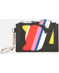 Karl Lagerfeld - K/stripes Keychain Coin Purse - Lyst