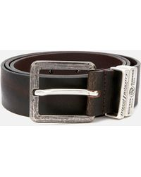 DIESEL Guarantee Leather Belt - Brown