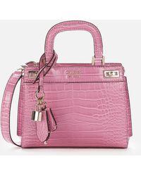 Guess Katey Mini Satchel - Pink