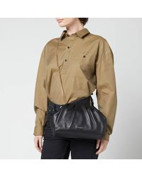 Ted Baker Abyoo Gathered Leather Clutch Bag - Black