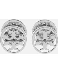 Tory Burch - Logo Circle Stud Earrings - Lyst
