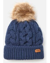 Barbour Penshaw Cable Beanie - Blue