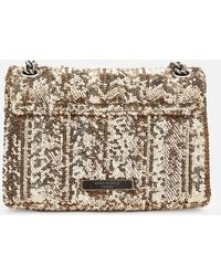 Kurt Geiger Sequins Mini Kensington Bag - Metallic