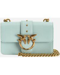 Pinko Love Mini Icon Simply Shoulder Bag - Blue