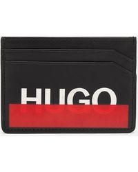HUGO Black Concealed Logo Card Holder